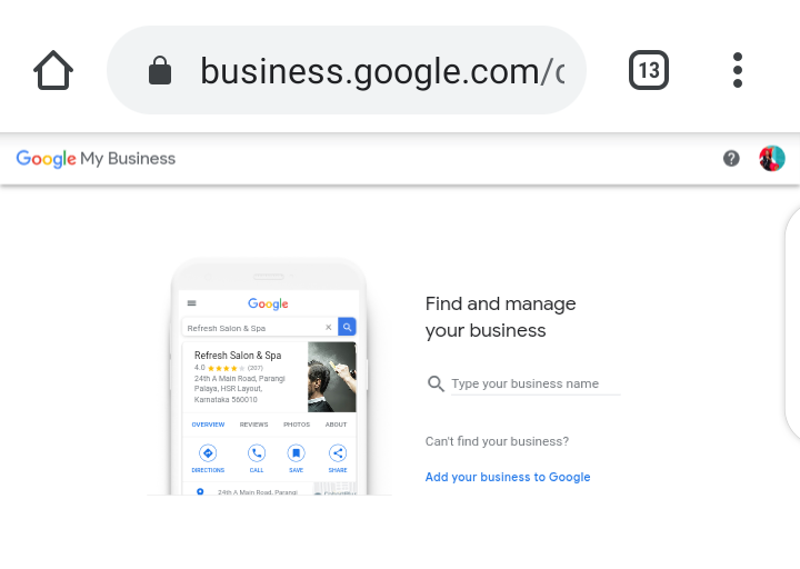 Find and manage your business